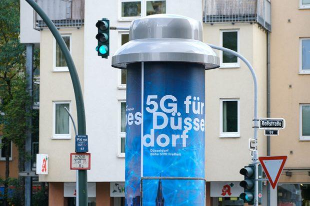 Das schnelle Netz aus der 5G-Litfaßsäule