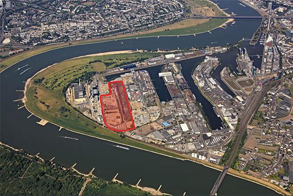 Auf diesem grundstück wird das neue Logistikzentrum entstehen, Foto: Neuss Düsseldorfer Häfen