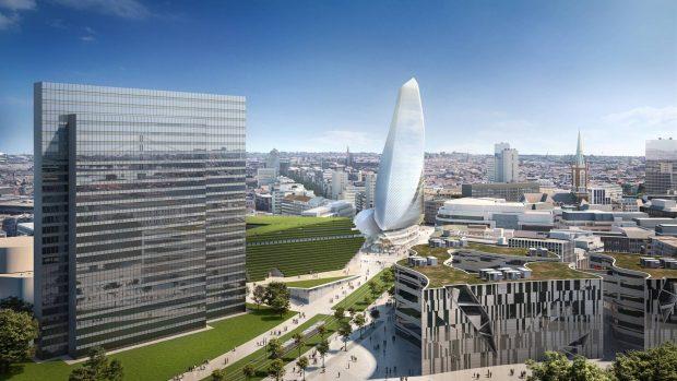 Calatrava Turm Düsseldorf
