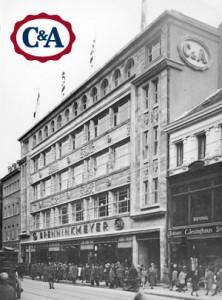 C&A Filiale 1926 auf der Schadowstraße in Düsseldorf