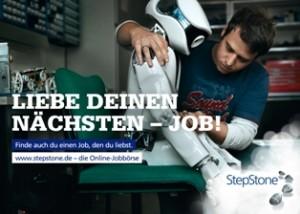 Motiv der StepStone Werbekampagne 2011